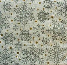 Papier - S893 - Servítky - vločka, sneh, zima, vianoce - 7423819_
