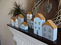 Dekorácie - Drevené dekoračné domčeky - 7426067_