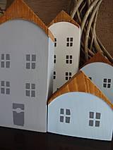 Dekorácie - Drevené dekoračné domčeky - 7426071_