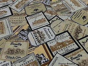 Textil - Bavlna etikety - cena za 10 cm - 7425036_