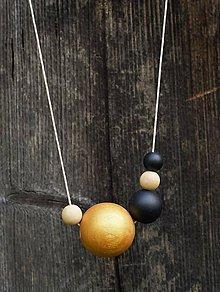 Náhrdelníky - náhrdelník  MINIMAL  23 - drevo maľované akrylom - 7427207_