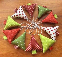 Dekorácie - Vianočné ozdoby - červeno - zelené Vianoce - 7422958_