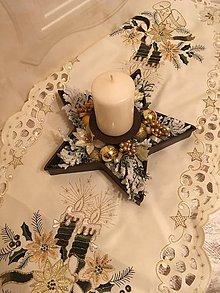 Svietidlá a sviečky - Vianočný svietnik - 7425046_
