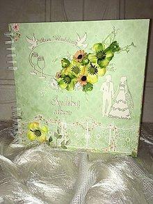 Papiernictvo - Svadobný album zelený-zľava - 7427438_