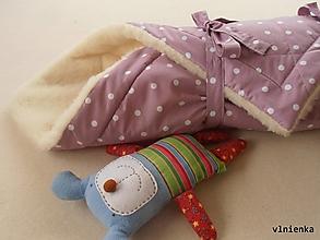 Textil - Zavinovačka pre bábätka Merino Bodka ružová - 7429189_