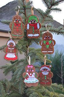 Dekorácie - Vianočné medovníčky - 7427872_