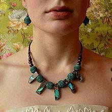 Sady šperkov - Jasper Boho set - souprava náušnic a náhrdelníku - 7423484_