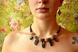 Sady šperkov - Jasper Boho set n.2-souprava náušnic a náhrdelníku - 7423522_