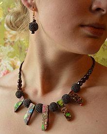 Sady šperkov - Jasper Boho set n.3-souprava náušnic a náhrdelníku - 7423528_