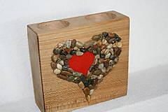 Svietidlá a sviečky - kamenne srdce - 7423307_