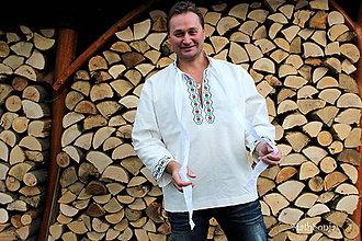 Oblečenie - Panská folk košeľa - 7427882_