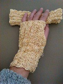 Rukavice - Bezprstove rukavice... - 7424849_