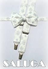 - Vianočný motýlik + traky, vločky, pánsky možnosť aj detský - 7426404_