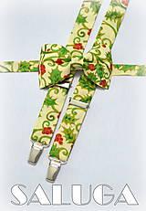 - Vianočný motýlik + traky - pánsky, možnosť aj detský - 7426434_