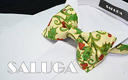 - Vianočný pánsky motýlik - možnosť aj detský - 7426504_