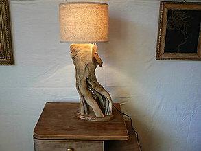 Svietidlá a sviečky - BlackElder Lampa z bazy čiernej - 7426678_