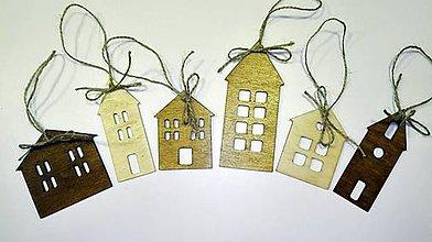 Dekorácie - Drevená vianočná dedinka - 7424281_