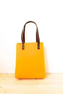 Kabelky - Urban... yellow... Felt & Leather - 7427398_