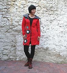 Mikiny - Kabátek s kapucí,balónový efekt, výrazná aplikace - 7423015_