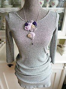 Náhrdelníky - Elegantný náhrdelník vo fialovej - magické kruhy - 7427300_