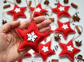 Dekorácie - Vianočné Mini Hviezdičky - 7425403_