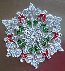 Dekorácie - Vianočná hviezda/farbná dekorácia - 7423959_