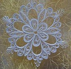 Dekorácie - Vianočná hviezda/biela vločka - 7424007_