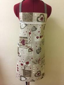 Úžitkový textil - Vianočná zástera- Srdiečka 2 - 7424473_