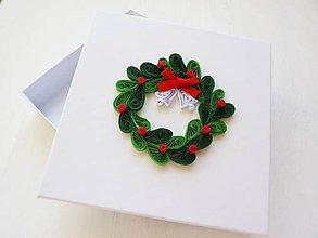 Krabičky - vianočná darčeková krabička - 7424454_