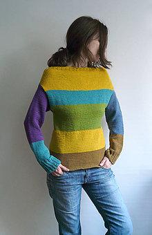 Svetre/Pulóvre - farebné pásy pulover - 7426053_
