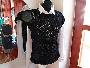 Iné oblečenie - vesta SARAH čierna - 7430511_