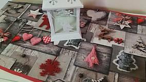 - Vianočná štola srdiečka a sobíky - 7434902_