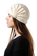 Čiapky - Biely vlnený klobúk, ručne plstený z merino vlny, Vintage dámsky klobúk - 7431943_