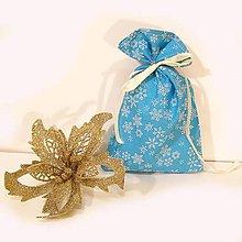 Úžitkový textil - Vianočné darčekové vrecúško - 7430942_