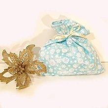 Úžitkový textil - Vianočné darčekové vrecúško - 7431125_