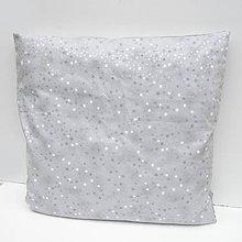 Úžitkový textil - Obliečka Strieborná - 7431546_
