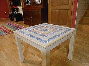 Nábytok - konferenčný mozaikový stôl (stolík) Trošku grécky - 7433364_