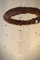 Dekorácie - Venček - krištáľová rosa - 7430128_