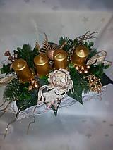 Svietidlá a sviečky - Adventný svietnik - 7433873_
