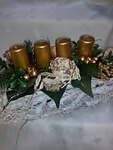 Svietidlá a sviečky - Adventný svietnik - 7433875_