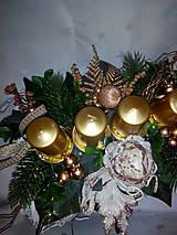 Svietidlá a sviečky - Adventný svietnik - 7433876_