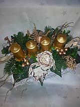 Svietidlá a sviečky - Adventný svietnik - 7433877_