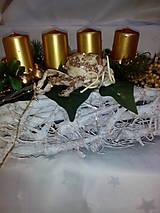 Svietidlá a sviečky - Adventný svietnik - 7433878_