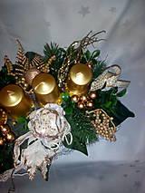 Svietidlá a sviečky - Adventný svietnik - 7433879_