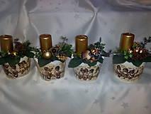 Svietidlá a sviečky - Adventná dekorácia - 7433962_