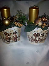 Svietidlá a sviečky - Adventná dekorácia - 7433968_