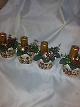 Svietidlá a sviečky - Adventná dekorácia - 7433970_
