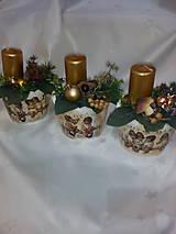 Svietidlá a sviečky - Adventná dekorácia - 7433973_