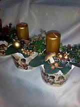 Svietidlá a sviečky - Adventná dekorácia - 7433974_