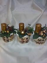 Svietidlá a sviečky - Adventná dekorácia - 7433975_